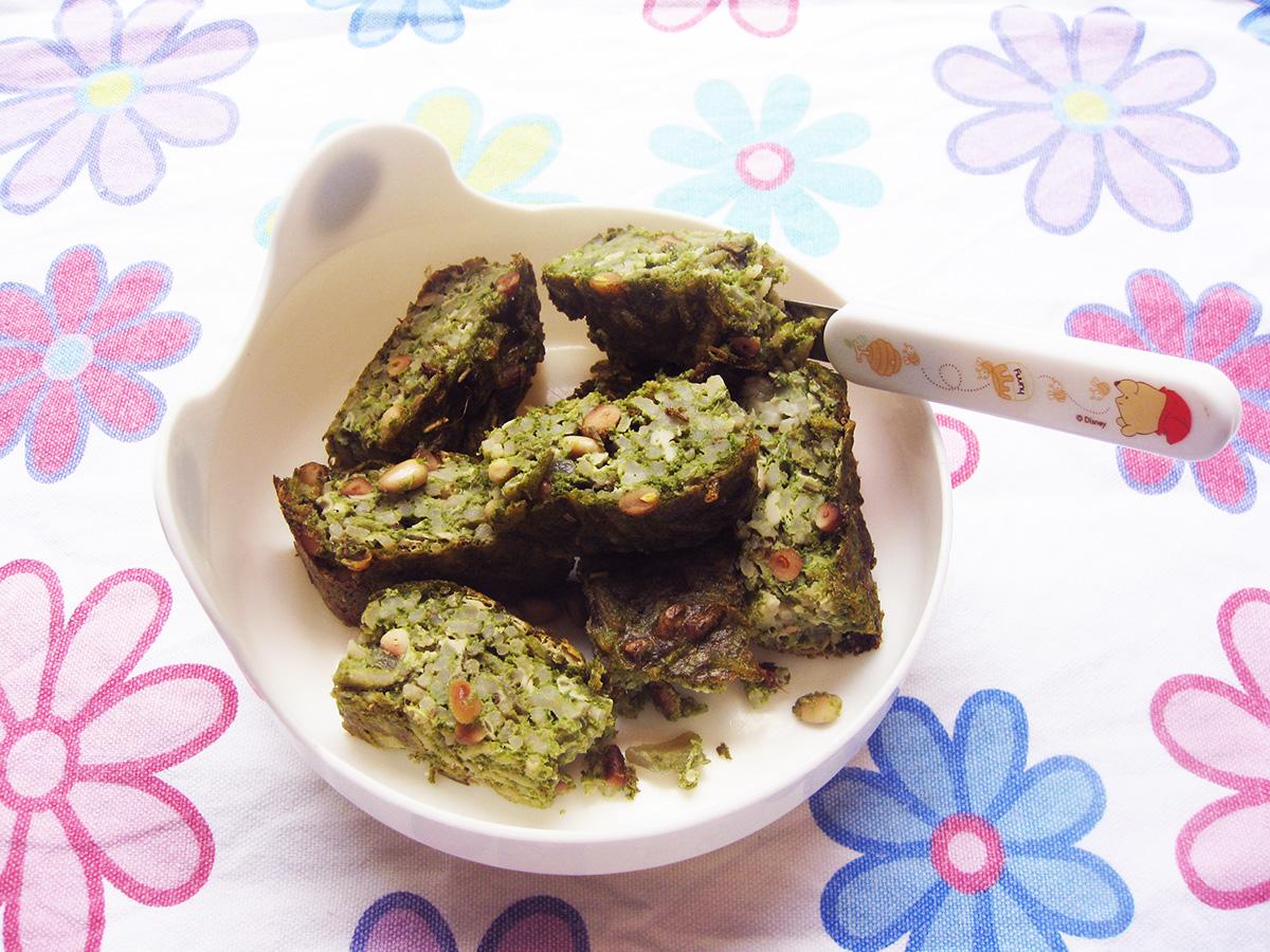 gluten-free_dairy-free_spinach_pine_nut_bake
