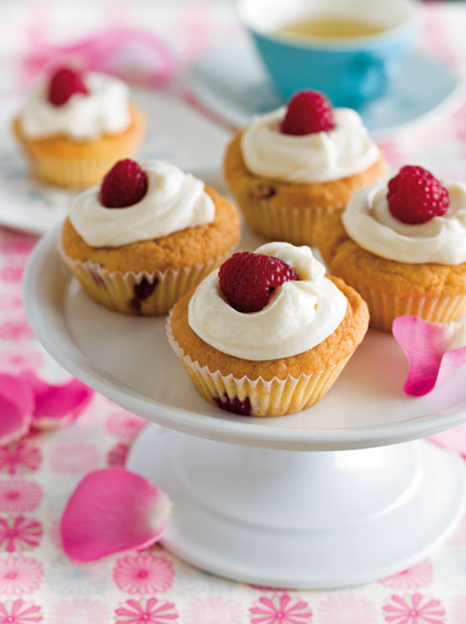 Gluten-Free & Dairy-Free Raspberry & Rosewater Cupcakes