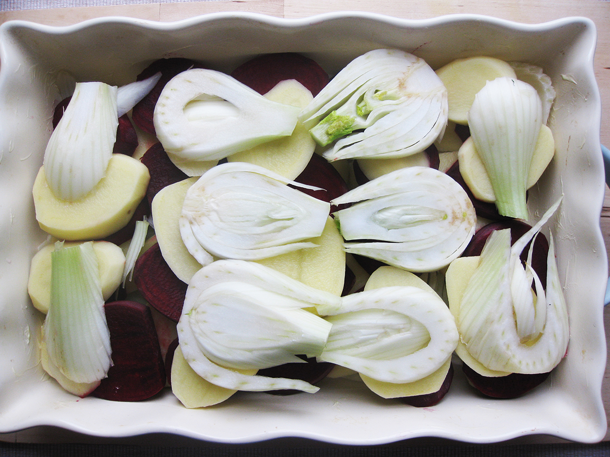 fennel_beetroot_potato_gratin_raw