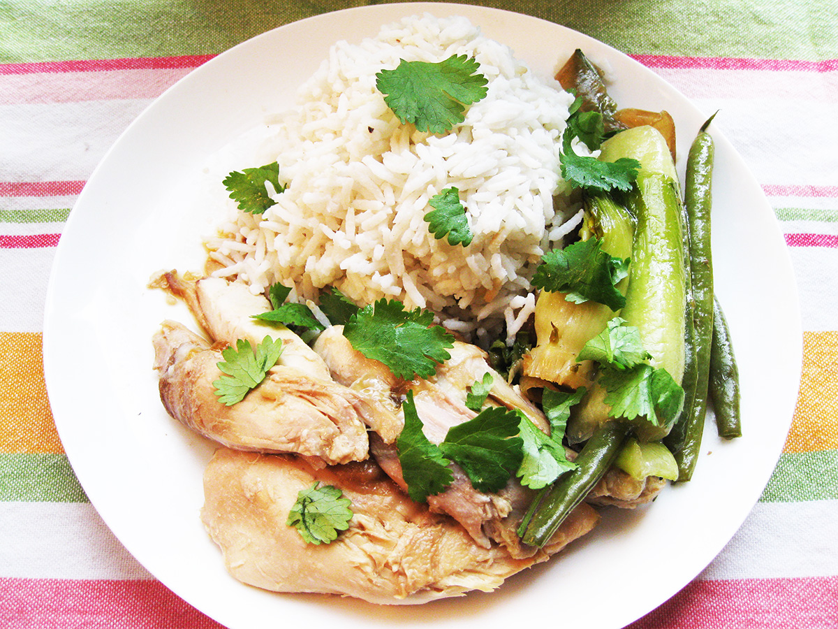 Gluten-Free_Dairy-Free_Asian_Style_Poached_Chicken_Pak_Choi_Slow_Cooker