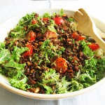 Gluten-Free & Dairy-Free Kale Salad with Toasted Seeds