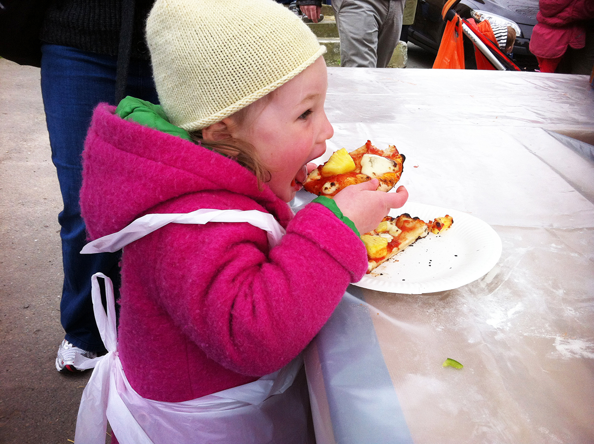 Zoe_Eating_Gluten-Free_Dairy-Free_Pinepple_Pizza