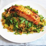 Gluten-Free & Dairy-Free 5/2 Fasting Grilled Salmon with Harissa Quinoa