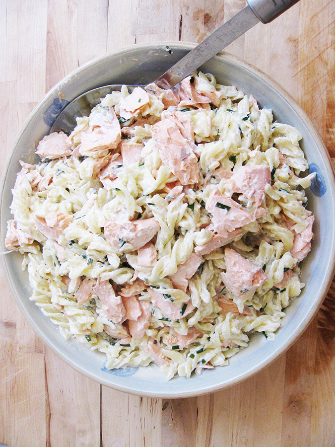 Super-Easy Gluten-Free and Dairy-Free Creamy Salmon Pasta
