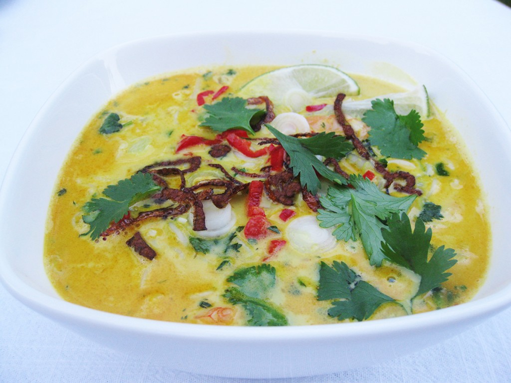 Gluten-free and Dairy-Free Prawn Laksa
