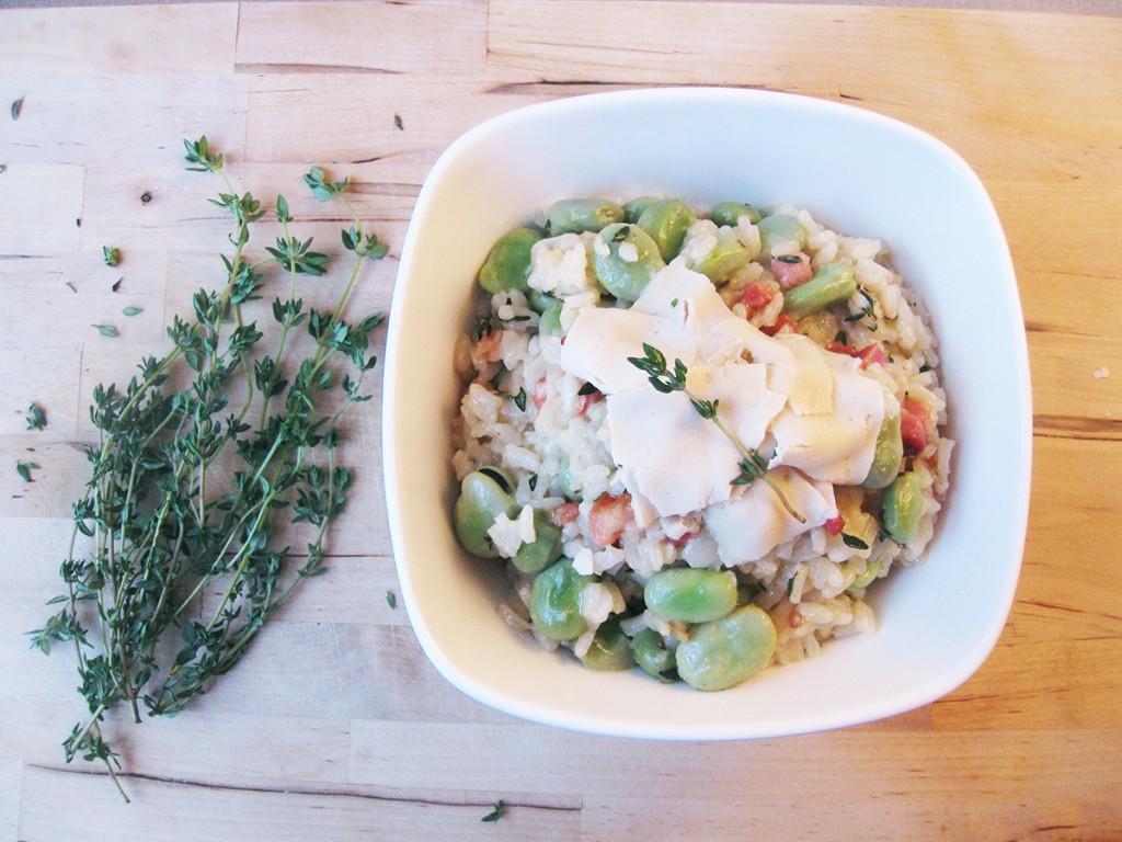 Gluten-Free & Dairy-Free Broad Bean & Pancetta Risotto