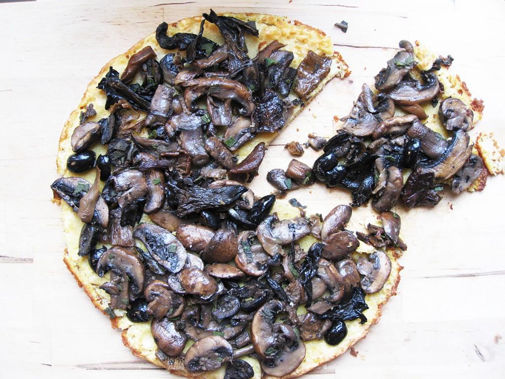 Gluten-Free & Dairy-Free Porcini & Olive Farinata