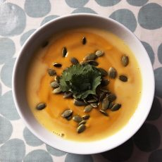 Easy Gluten-Free & Dairy-Free Carrot & Sweet Potato Soup
